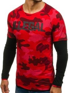 Longsleeve męski czerwony Denley 1162