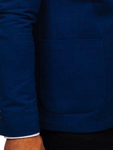 Marynarka męska elegancka niebieska Denley 1652