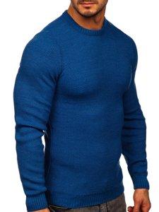 Niebieski sweter męski Denley 4629