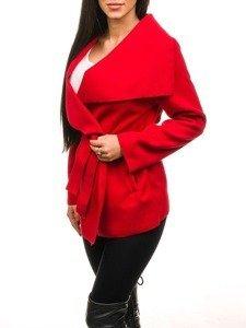 Płaszcz krótki damski czerwony Denley 1726