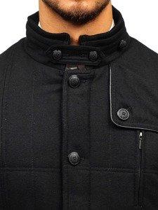 Płaszcz męski czarny Denley EX66A
