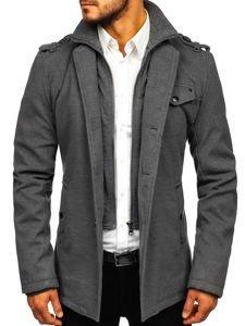 Płaszcz męski szary Denley 8853