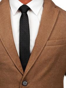 Płaszcz męski zimowy camelowy Denley 1047