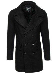 Płaszcz męski zimowy czarny Denley 1048