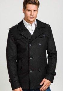 Płaszcz męski zimowy czarny Denley 306