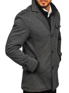 Płaszcz męski zimowy szary Denley 88801
