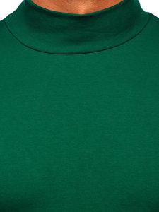 Półgolf męski bez nadruku zielony Denley 145348