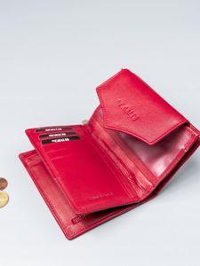Portfel damski skórzany czerwony 2409