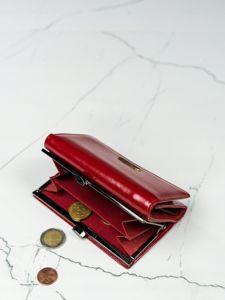 Portfel damski skórzany czerwony 2908