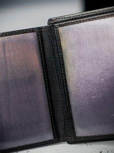 Portfel męski skórzany czarny 3086