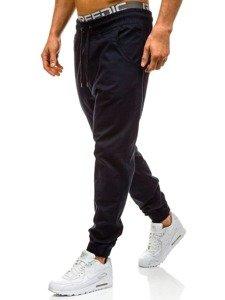 Długa bluza męska z kapturem z nadrukiem czarna Denley 0852