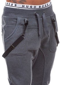 Spodnie dresowe baggy męskie antracytowe Denley 1106