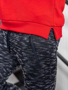 Spodnie dresowe męskie granatowe Denley 8740