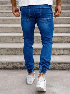 Spodnie jeansowe joggery męskie granatowe Denley  KA1078