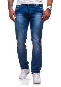Spodnie jeansowe męskie niebieskie Denley 4447