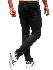 Spodnie jeansowe męskie straight leg czarne Denley KA9977