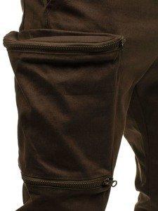 Spodnie joggery bojówki męskie brązowe Denley 0475