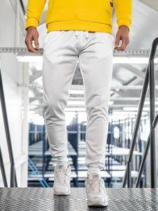Spodnie męskie dresowe białe Denley JZ11001