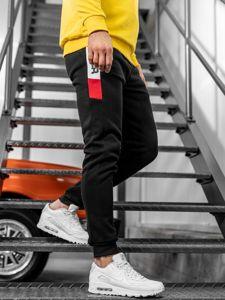 Spodnie męskie dresowe czarne Denley JX8962