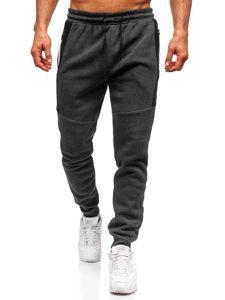 Spodnie męskie dresowe grafitowe Denley JX8967-2