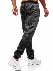 Spodnie męskie dresowe joggery grafitowe Denley 55031