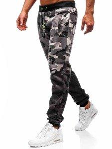 Spodnie męskie dresowe joggery szare Denley 55031