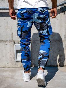 Spodnie męskie joggery bojówki niebieskie Bolf 0705