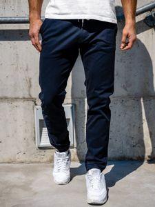 Spodnie męskie joggery granatowe Denley 1121