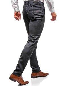 Spodnie wizytowe męskie antracytowe Denley 7625