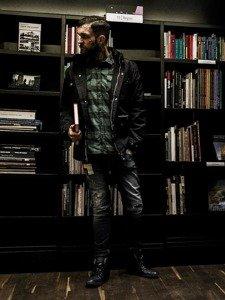 Stylizacja nr 131- kurtka przejściowa, flanelowa koszula, spodnie jeansowe, buty