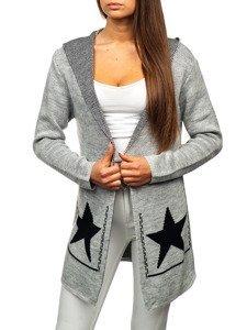 Sweter kardigan damski szary Denley 05