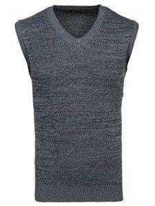 Sweter męski bez rękawów grafitowy Denley H1715
