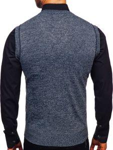 Sweter męski bez rękawów granatowy Denley 8121