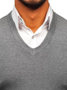 Sweter męski bez rękawów szary Denley H1950