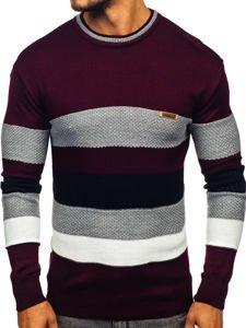 Sweter męski bordowy Denley 04