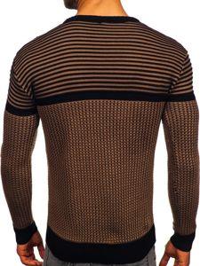 Sweter męski brązowo-czarny Denley 1013