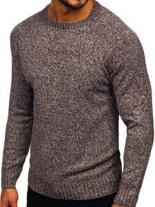 Sweter męski brązowy Denley H1929