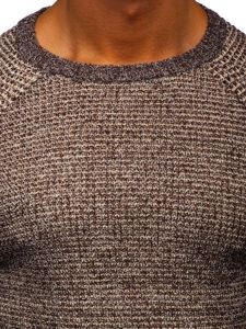 Sweter męski brązowy Denley H1932