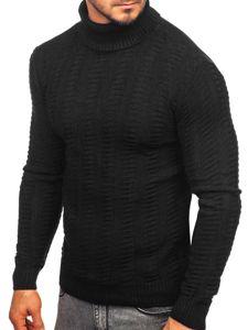 Sweter męski golf czarny Denley 314