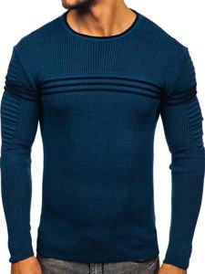 Sweter męski niebieski Denley 0001