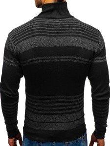 Sweter męski rozpinany czarny Denley BM6132