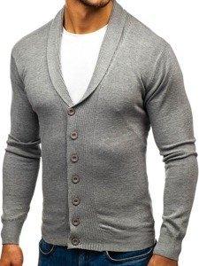 Sweter męski rozpinany szary Denley 88101