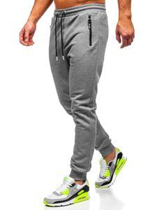 Szare dresowe spodnie męskie Denley Q1054