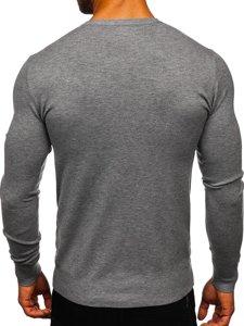 Szary sweter męski w serek Denley YY03