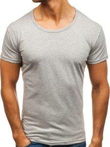 T-shirt męski bez nadruku szary Denley 2006