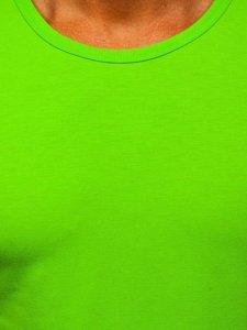 Zielona koszulka tank top bez nadruku Denley 99001